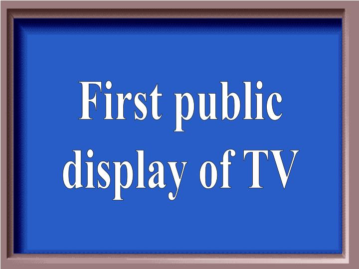 First public