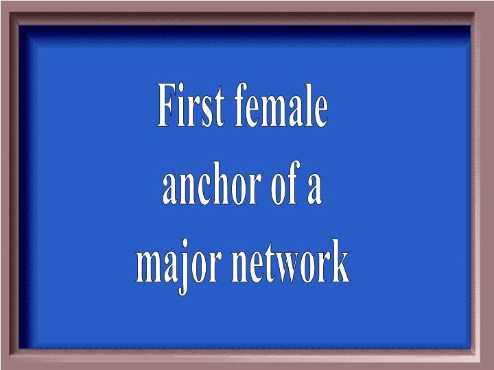 First female