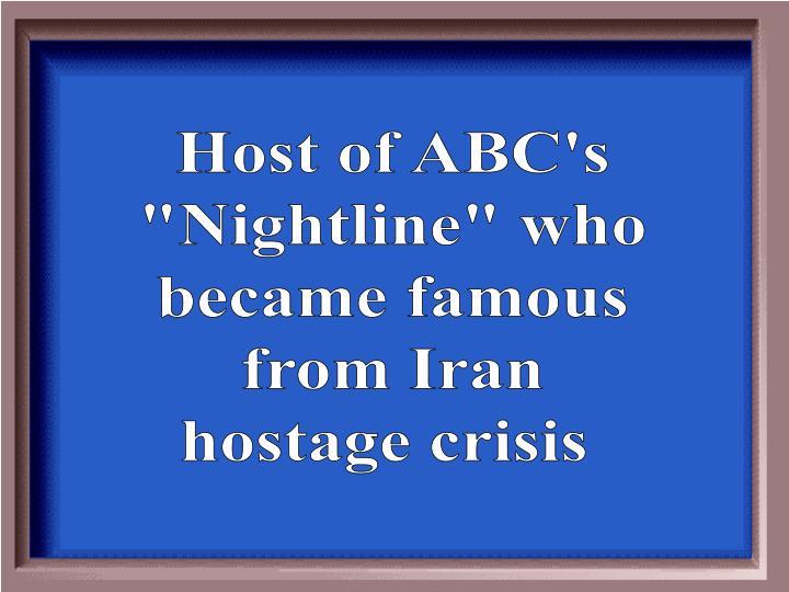Host of ABC's