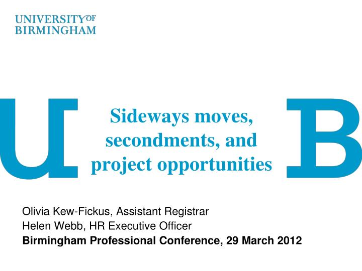 sideways moves secondments and project opportunities n.