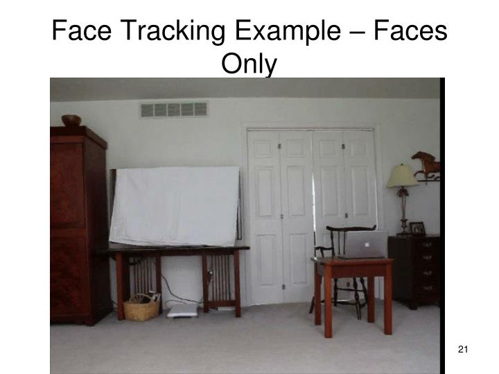 Face Tracking Example – Faces Only