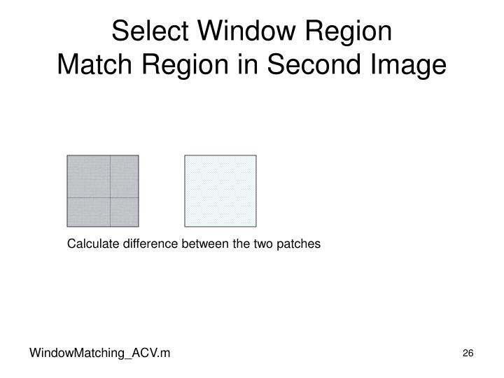 Select Window Region