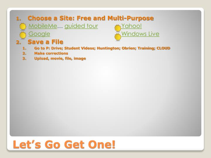 Choose a Site: Free and Multi-Purpose