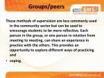 groups peers