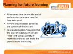 planning for future learning
