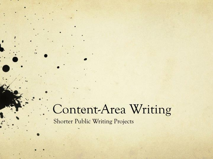 Content area writing