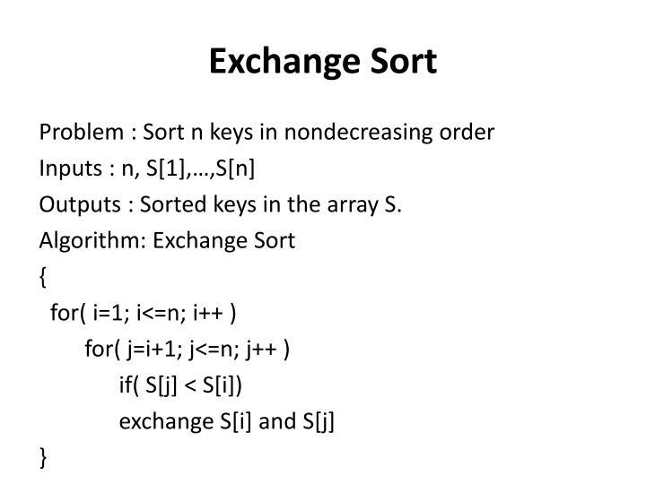 Exchange Sort