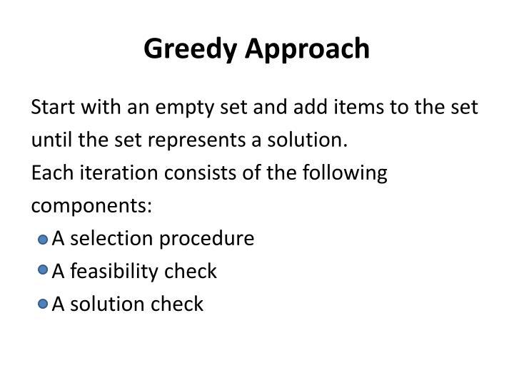 Greedy Approach