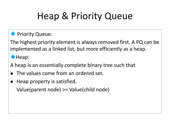 Heap & Priority Queue