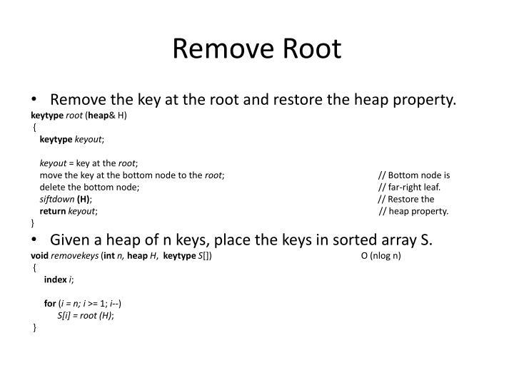 Remove Root