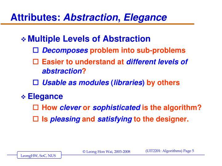 Attributes: