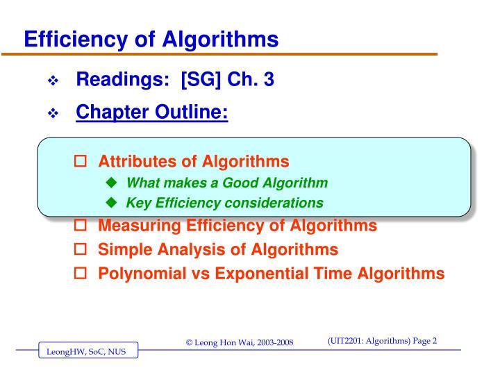 Efficiency of algorithms1
