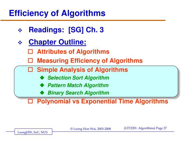 Efficiency of Algorithms
