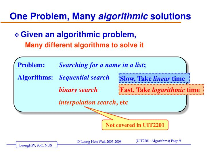 One Problem, Many