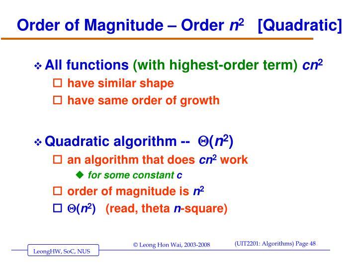 Order of Magnitude – Order