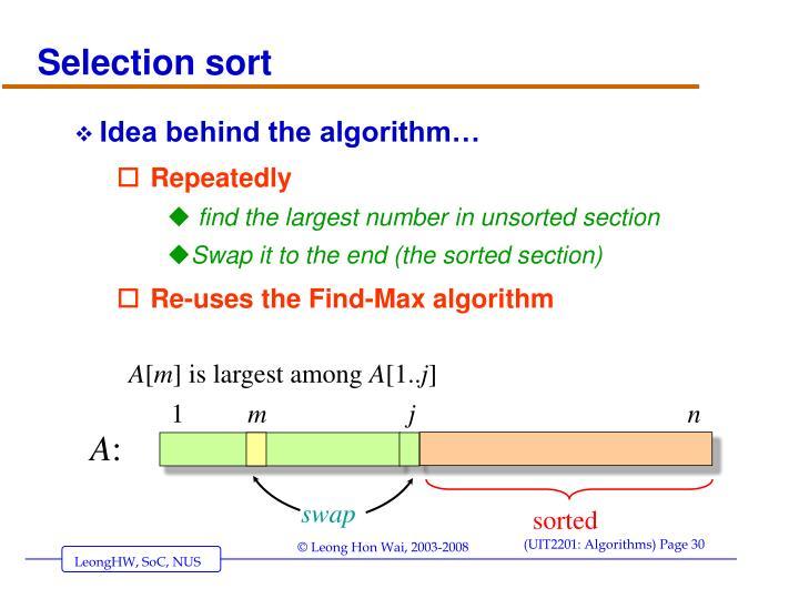 Idea behind the algorithm…