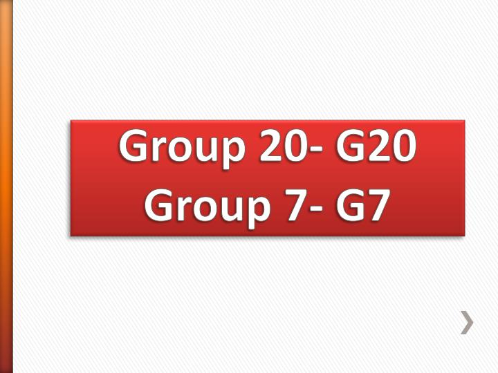 Group 20- G20