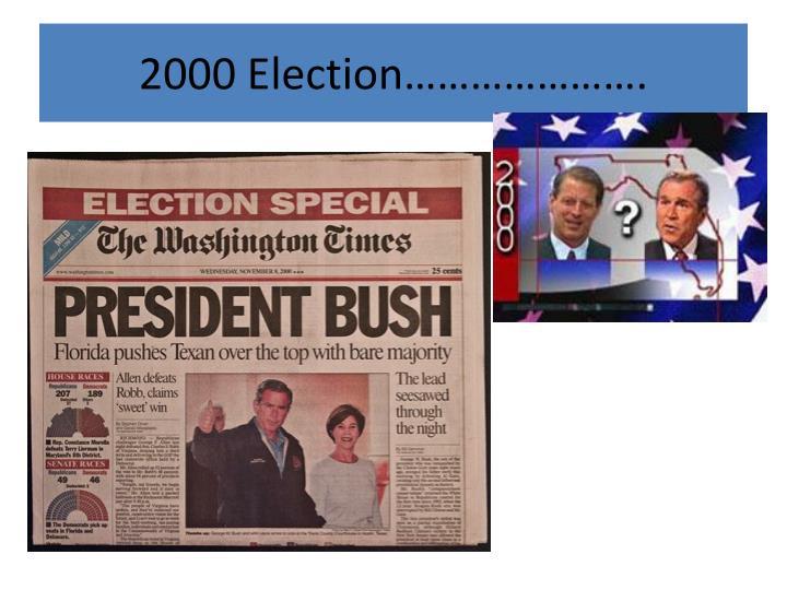 2000 Election………………….