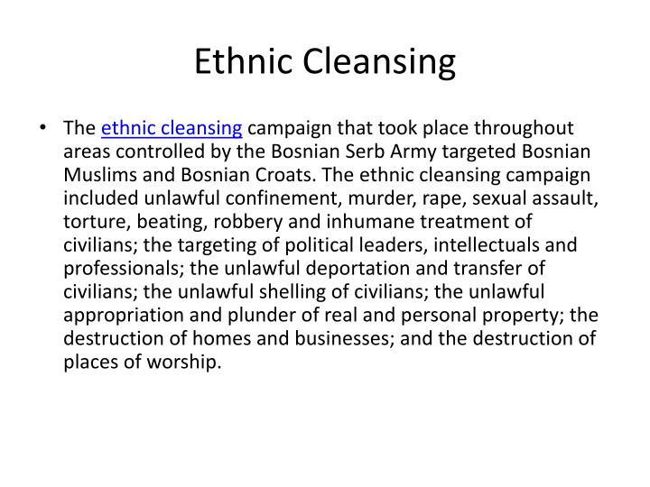 Ethnic Cleansing