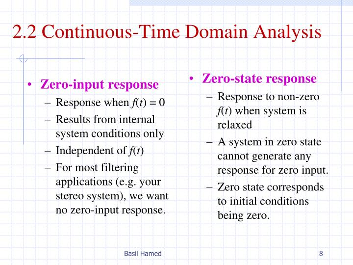 2.2 Continuous-Time Domain Analysis