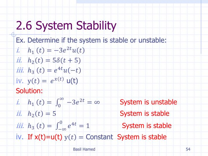 2.6 System Stability