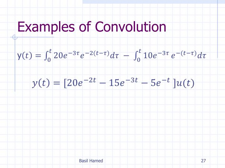 Examples of Convolution