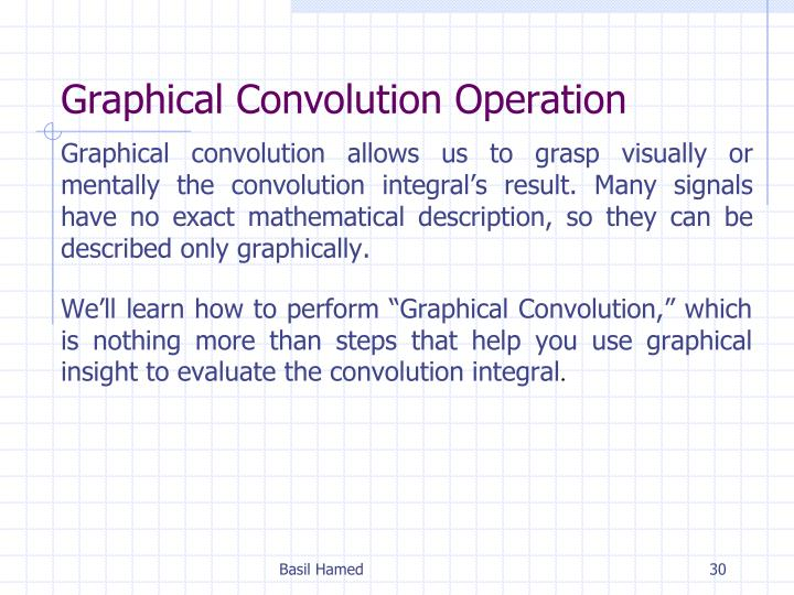 Graphical Convolution Operation