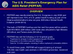 the u s president s emergency plan for aids relief pepfar