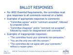 ballot responses