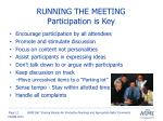 running the meeting participation is key