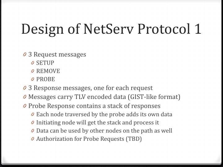 Design of netserv protocol 1