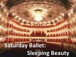 saturday ballet sleeping beauty