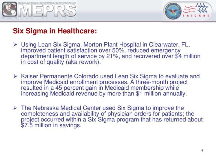 Six Sigma in Healthcare: