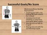 successful goals no score