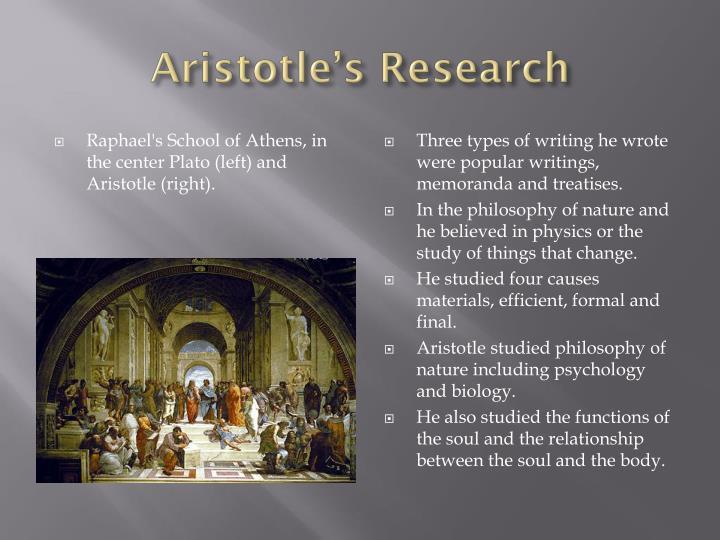 Aristotle s research