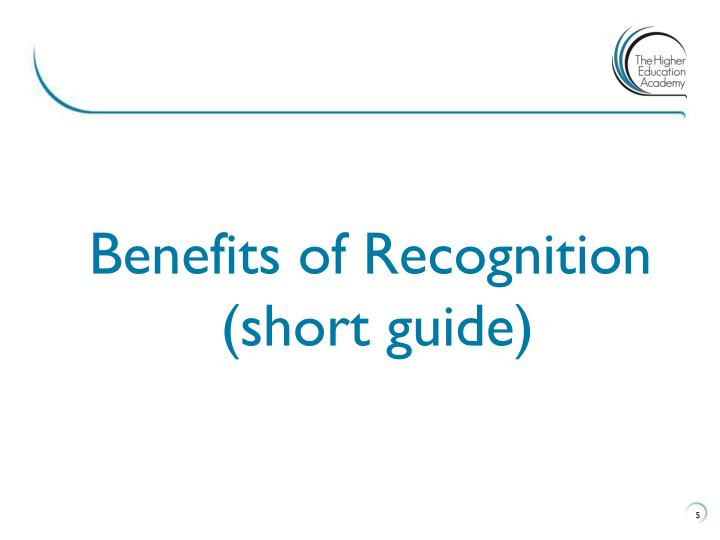 Benefits of Recognition (