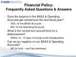 financial policy frequently asked questions answers1