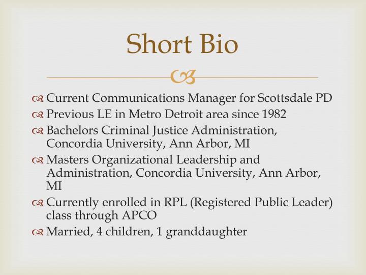 Short bio