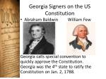 georgia signers on the us constitution