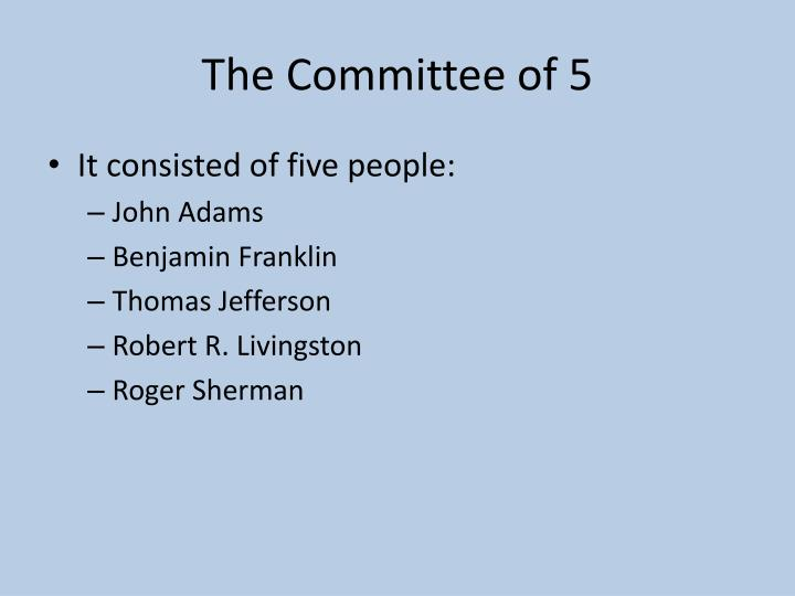 The committee of 5