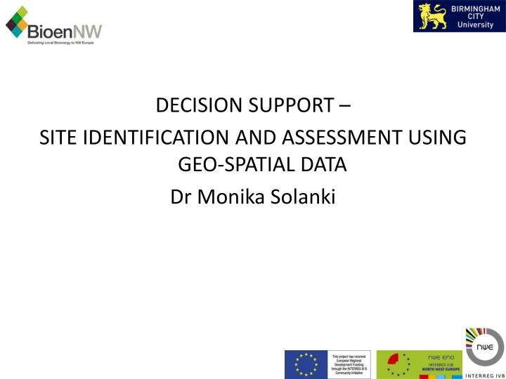 DECISION SUPPORT –