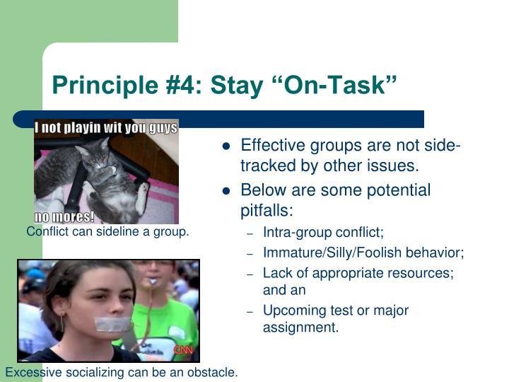 "Principle #4: Stay ""On-Task"""