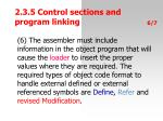 2 3 5 contro l section s and progra m linking9
