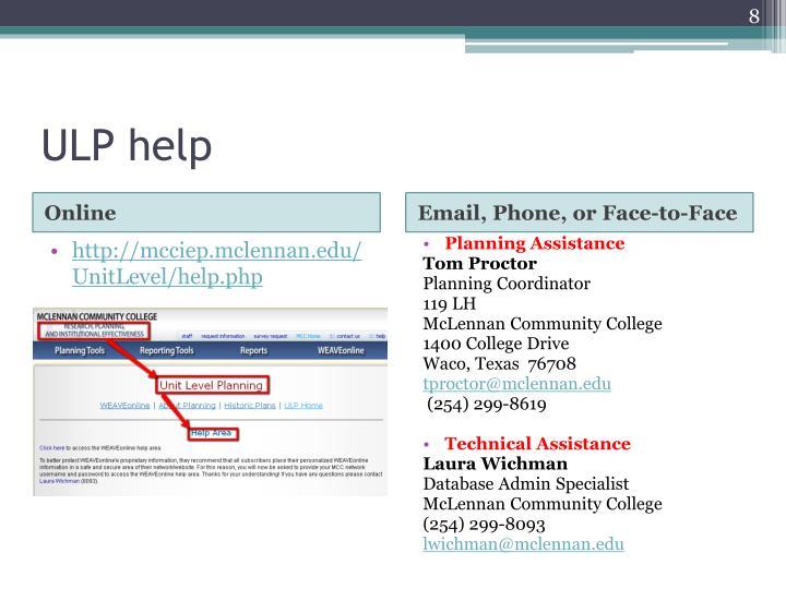 ULP help