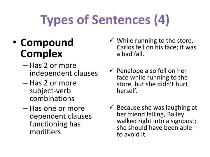 Types of Sentences (4)