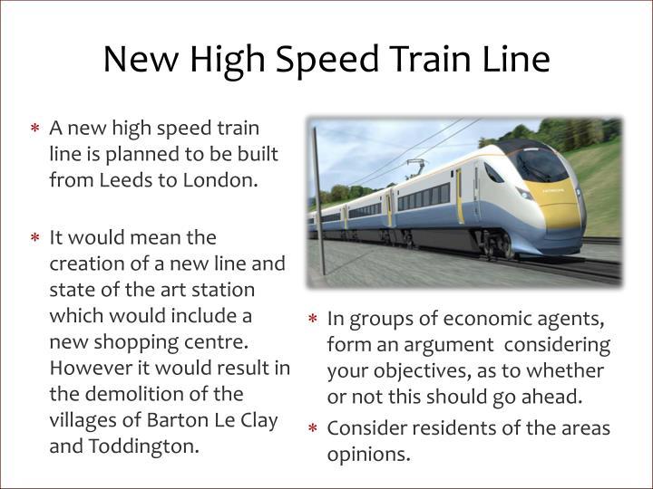 New High Speed Train Line