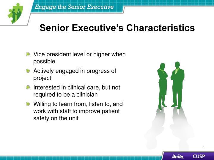 Senior Executive's Characteristics