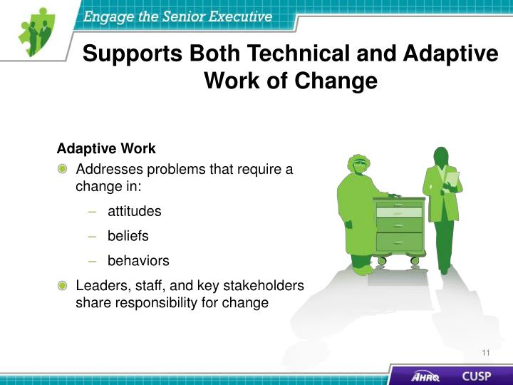Supports Both Technical and Adaptive Work of Change