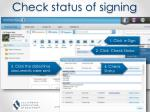 check status of signing