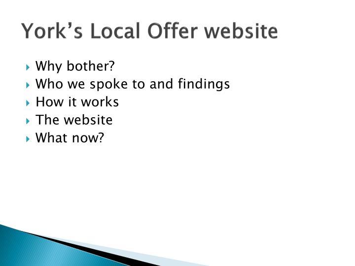 York s local offer website1